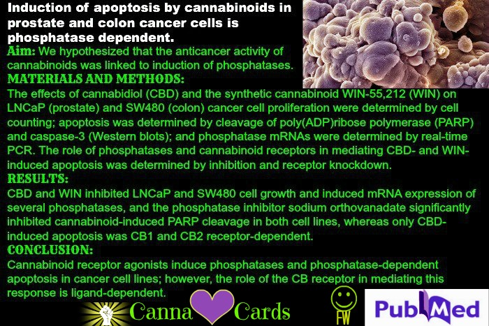 induction of apoptosis via cannabinoids FW site